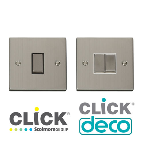 Deco Stainless Steel Switches