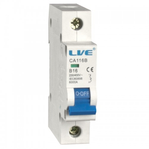 LIVE Electrical 50A Single Pole Type B MCB CA150B