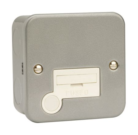 Click Metal Clad 13A Unswitched Fused Spur + Flex Outlet CL050