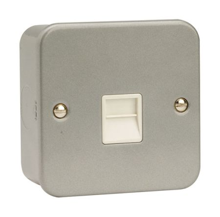 Click Metal Clad Single Master Telephone Socket CL120