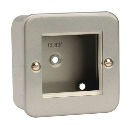 Click Metal Clad New Media Twin Aperture Plate CL311