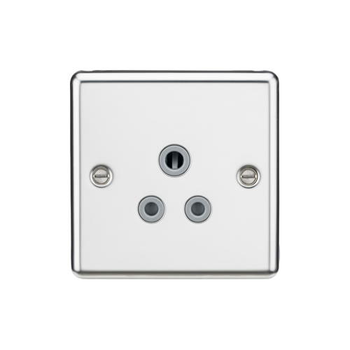 Knightsbridge Polished Chrome 5A Unswitched Round Socket CL5APCG