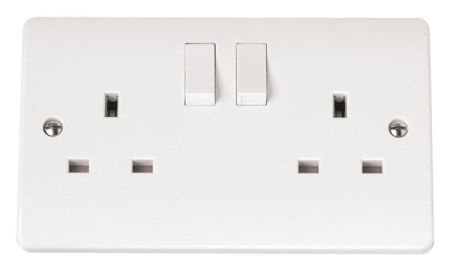 Click Mode CMA036 13A 2 Gang DP Switched Socket
