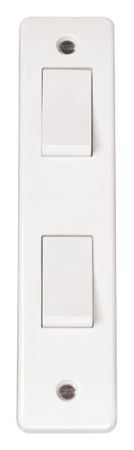 Click Mode 2 Gang 2 Way Architrave Switch CMA172