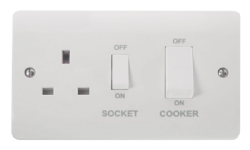 Click Mode 45A Cooker Switch with 13A Switched Socket CMA504