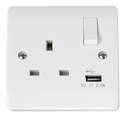 Click Mode USB Single Switched Socket CMA771