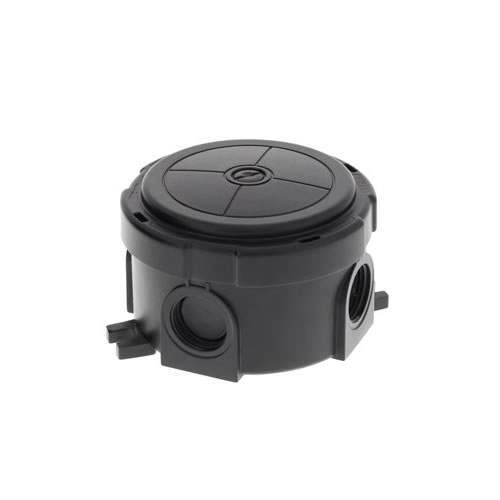 Wiska 10110636 Waterproof Combi Circular Junction Box COMBI304BK