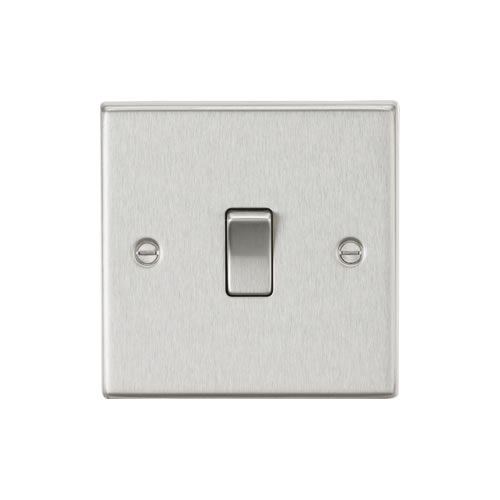 Knightsbridge Brushed Chrome 20A 1G Double Pole Switch CS834BC