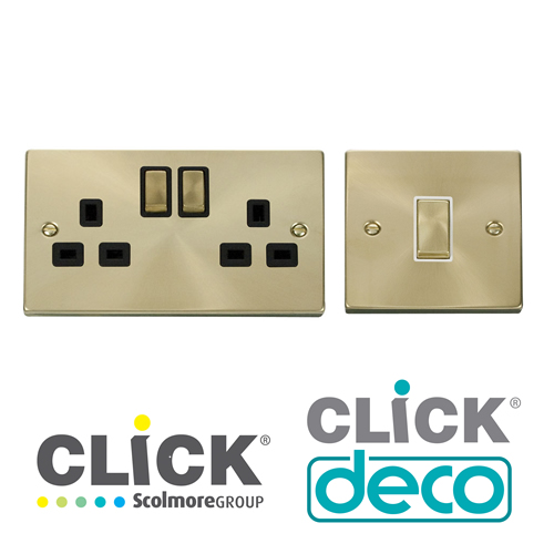 Click Deco Satin Brass Finish