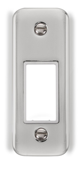 Click Deco Plus 1 Gang Architrave Plate DPCH471WH
