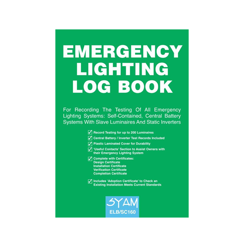 Syam Emergency Lighting Log Book ELB/SC160