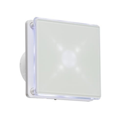 "Knightsbridge 4"" LED Backlit Extractor Fan with Timer EX003T"