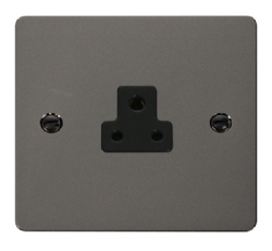 Click Define Black Nickel 2A Round Pin Socket FPBN039BK