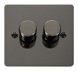 Click Define Black Nickel 2 Gang 2 Way Dimmer Switch FPBN152