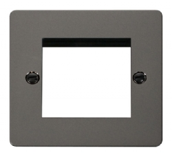 Click Define Black Nickel New Media Twin Aperture Plate FPBN311