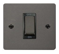 Click Define Black Nickel 1G 45A Double Pole Switch FPBN500BK