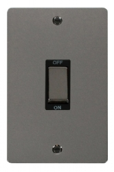 Click Define Black Nickel 2G 45A Double Pole Switch FPBN502BK
