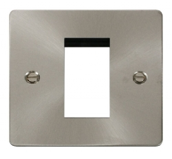 Click Define Brushed Steel New Media Single Plate FPBS310