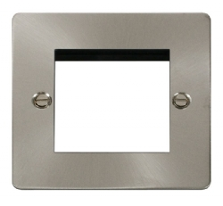 Click Define Brushed Steel New Media Single Plate FPBS311