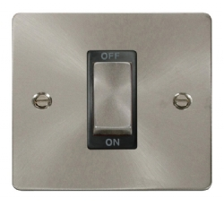 Click Define Brushed Steel 1G 45A Double Pole Switch FPBS500BK