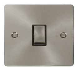 Click Define Brushed Steel 20A Double Pole Switch FPBS722BK