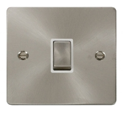 Click Define Brushed Steel 20A Double Pole Switch FPBS722WH