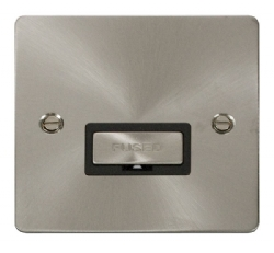 Click Define Brushed Steel Unswitched Fused Spur FPBS750BK