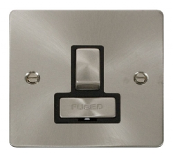 Click Define Brushed Steel Switched Fused Spur FPBS751BK