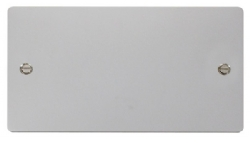 Click Define Polished Chrome 2 Gang Blank Plate FPCH061