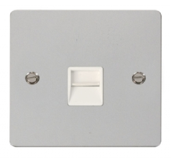 Click Define Polished Chrome Master Telephone Socket FPCH120WH