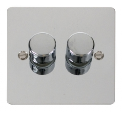 Click Define Polished Chrome 2 Gang 2 Way Dimmer Switch FPCH152