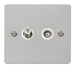 Click Define Polished Chrome Satellite & Coax Socket FPCH157WH