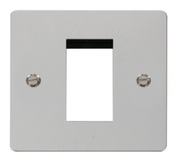 Click Define Polished Chrome New Media Single Plate FPCH310