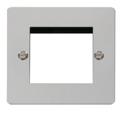 Click Define Polished Chrome New Media Twin Plate FPCH311