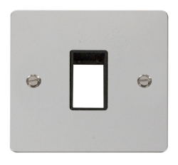 Click Define Polished Chrome Single Plate 1 Gang Aper FPCH401BK