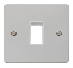 Click Define Polished Chrome Single Plate 1 Gang Aper FPCH401WH