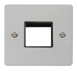 Click Define Polished Chrome Single Plate 2 Gang Aper FPCH402BK