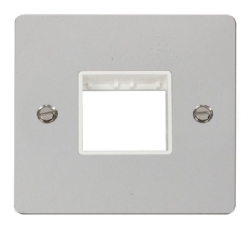 Click Define Polished Chrome Single Plate 2 Gang Aper FPCH402WH