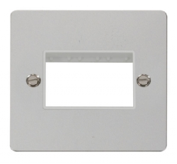 Click Define Polished Chrome Single Plate 3 Gang Aper FPCH403WH