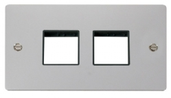Click Define Polished Chrome Double Plate 4 Gang Aper FPCH404BK