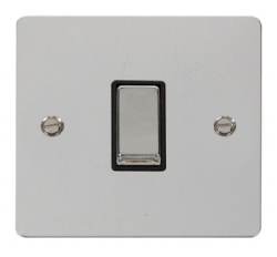 Click Define Polished Chrome 1 Gang 2 Way Switch FPCH411BK