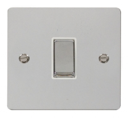 Click Define Polished Chrome 1 Gang 2 Way Switch FPCH411WH