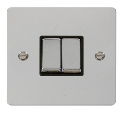 Click Define Polished Chrome 2 Gang 2 Way Switch FPCH412BK