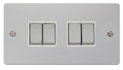 Click Define Polished Chrome 4 Gang 2 Way Switch FPCH414WH