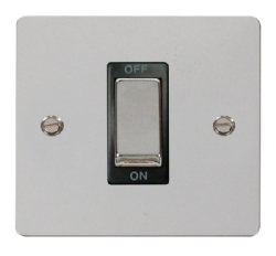 Click Define Polished Chrome 1G 45A Double Pole Switch FPCH500BK