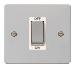 Click Define Polished Chrome 1G 45A Double Pole Switch FPCH500WH