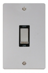 Click Define Polished Chrome 45A Vertical DP Switch FPCH502BK
