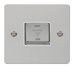 Click Define Polished Chrome Fan Isolator Switch FPCH520WH