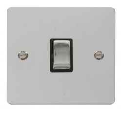 Click Define Polished Chrome 20A Double Pole Switch FPCH722BK
