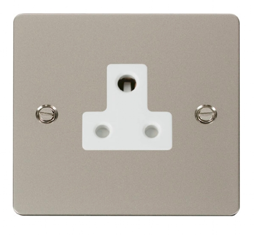 Click Define Pearl Nickel 5A Single Round Pin Socket FPPN038WH